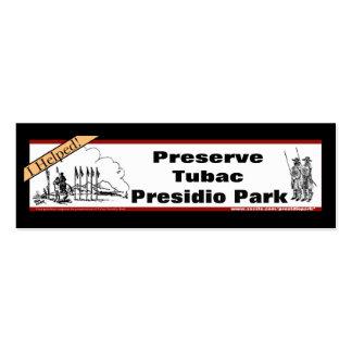 Preserve the Presidio  small bookmark Business Card Templates