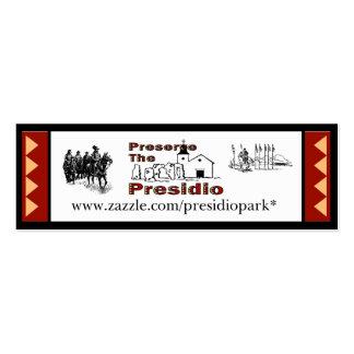 Preserve the Presidio  small bookmark Mini Business Card