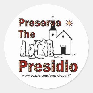 Preserve the Presidio stickers