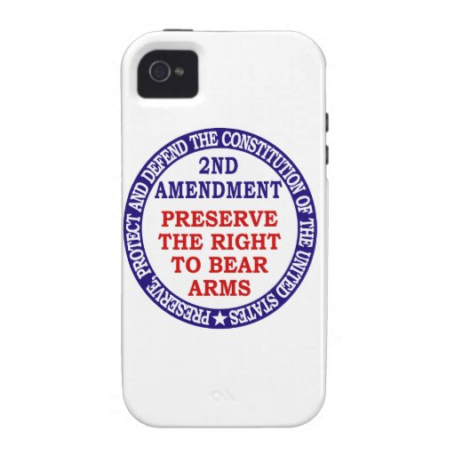 Preserve The Right to Bear Arms ( 2nd Amendment ) iPhone 4 Covers