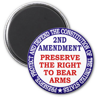 Preserve The Right to Bear Arms ( 2nd Amendment ) Magnet