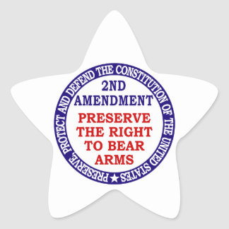 Preserve The Right to Bear Arms ( 2nd Amendment ) Star Sticker
