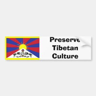 Preserve Tibetan Culture Bumper Sticker