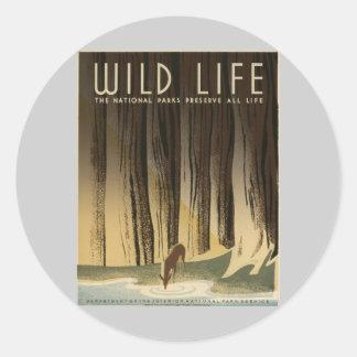 Preserve Wild life Classic Round Sticker
