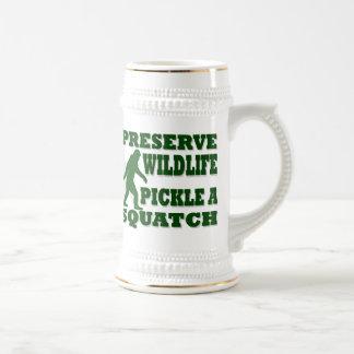 Preserve wildlife pickle a squatch beer stein