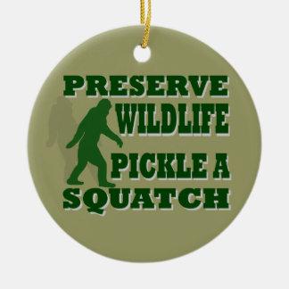 Preserve wildlife pickle a squatch ceramic ornament