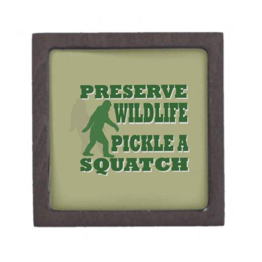 Preserve wildlife pickle a squatch jewelry box