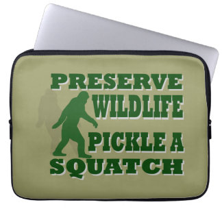 Preserve wildlife pickle a squatch laptop sleeve