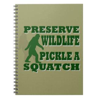 Preserve wildlife pickle a squatch note book