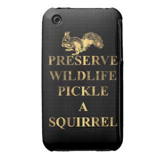 Preserve wildlife pickle a squirrel Case-Mate iPhone 3 case