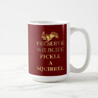 Preserve wildlife pickle a squirrel coffee mug