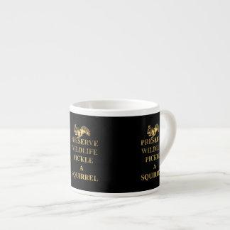 Preserve wildlife pickle a squirrel espresso cup