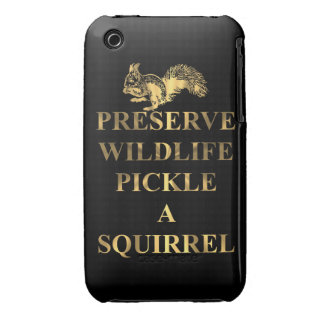 Preserve wildlife pickle a squirrel iPhone 3 cover
