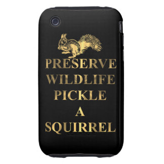 Preserve wildlife pickle a squirrel tough iPhone 3 cover