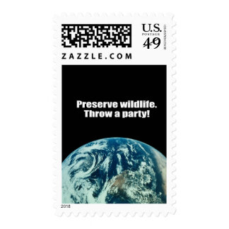 Preserve Wildlife Throw a party Postage Stamps