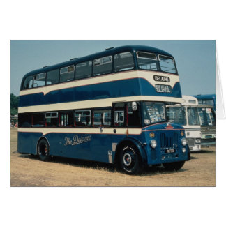 "Preserved Leyland decker owned by """"The Delaine"""" Card"