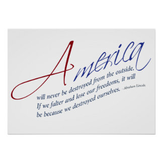 Preserving America's Freedoms - Abraham Lincoln Poster