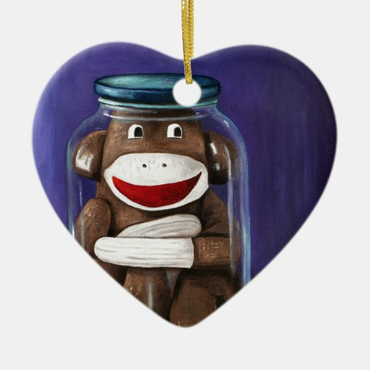 Preserving Childhood with Sock Monkey Ceramic Ornament