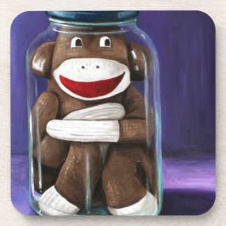 Preserving Childhood with Sock Monkey Coaster