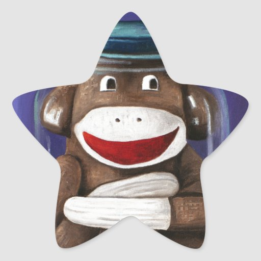 Preserving Childhood with Sock Monkey Star Sticker