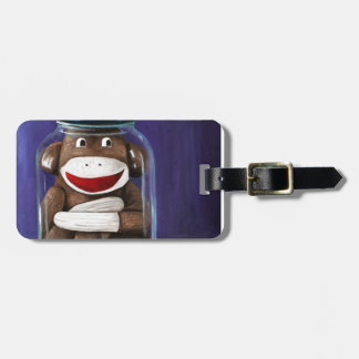 Preserving Childhood with Sock Monkey Tag For Luggage