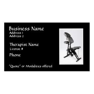 Presida al terapeuta del masaje II, modalidades en Tarjetas De Visita