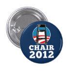 Presida para el botón del presidente 2012 pin