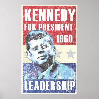 Presidencial histórico de John F. Kennedy Póster