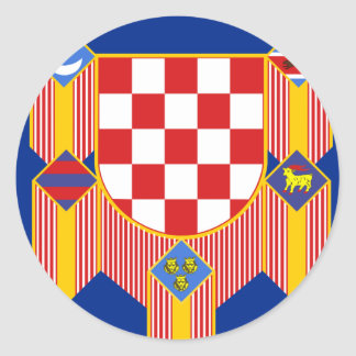 Presidencial   la república Croacia, Croacia Pegatina Redonda