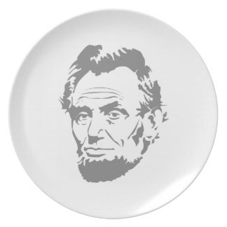 President Abe Lincoln Face Melamine Plate