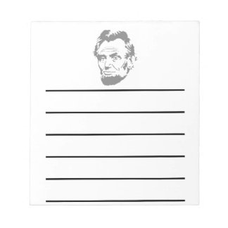 President Abe Lincoln Face Note Pad