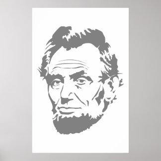 President Abe Lincoln Face Print