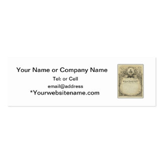 President abe lincoln inaugural address business card