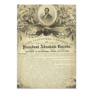 President abe lincoln inaugural address card