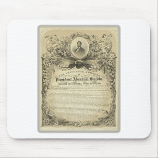 President abe lincoln inaugural address mouse pad