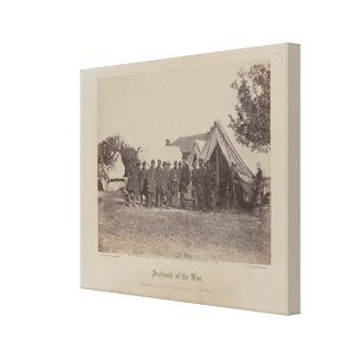 President Abe Lincoln on battle field of Antietam Gallery Wrap Canvas