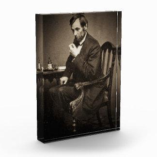 PRESIDENT ABRAHAM LINCOLN 1862 STEREOVIEW ACRYLIC AWARD