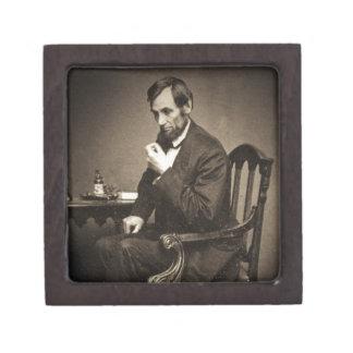 PRESIDENT ABRAHAM LINCOLN 1862 STEREOVIEW GIFT BOX