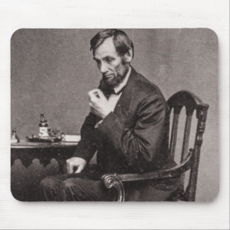 PRESIDENT ABRAHAM LINCOLN 1862 STEREOVIEW MOUSE PAD
