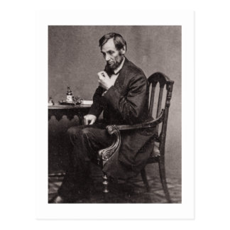 PRESIDENT ABRAHAM LINCOLN 1862 STEREOVIEW POSTCARD