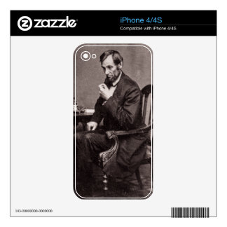 PRESIDENT ABRAHAM LINCOLN 1862 STEREOVIEW SKIN FOR THE iPhone 4S
