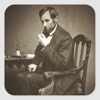 PRESIDENT ABRAHAM LINCOLN 1862 STEREOVIEW SQUARE STICKER