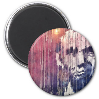 President Abraham Lincoln Abstract Magnet
