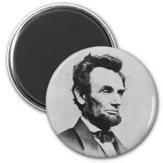 President Abraham Lincoln by Mathew B. Brady 2 Inch Round Magnet
