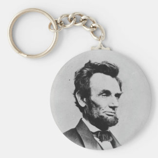 President Abraham Lincoln by Mathew B. Brady Basic Round Button Keychain