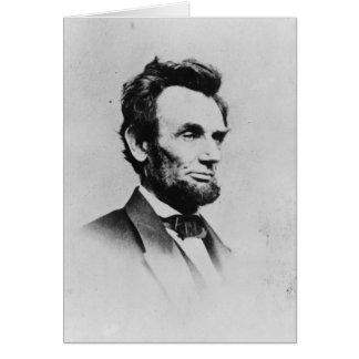 President Abraham Lincoln by Mathew B. Brady Card