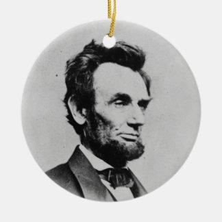 President Abraham Lincoln by Mathew B. Brady Ceramic Ornament
