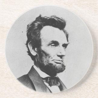President Abraham Lincoln by Mathew B. Brady Sandstone Coaster