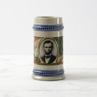 President Abraham Lincoln Civil War Stein 18 Oz Beer Stein