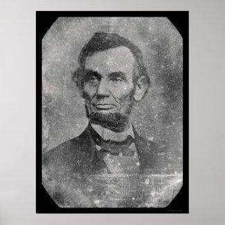 President Abraham Lincoln Daguerreotype 1864 print
